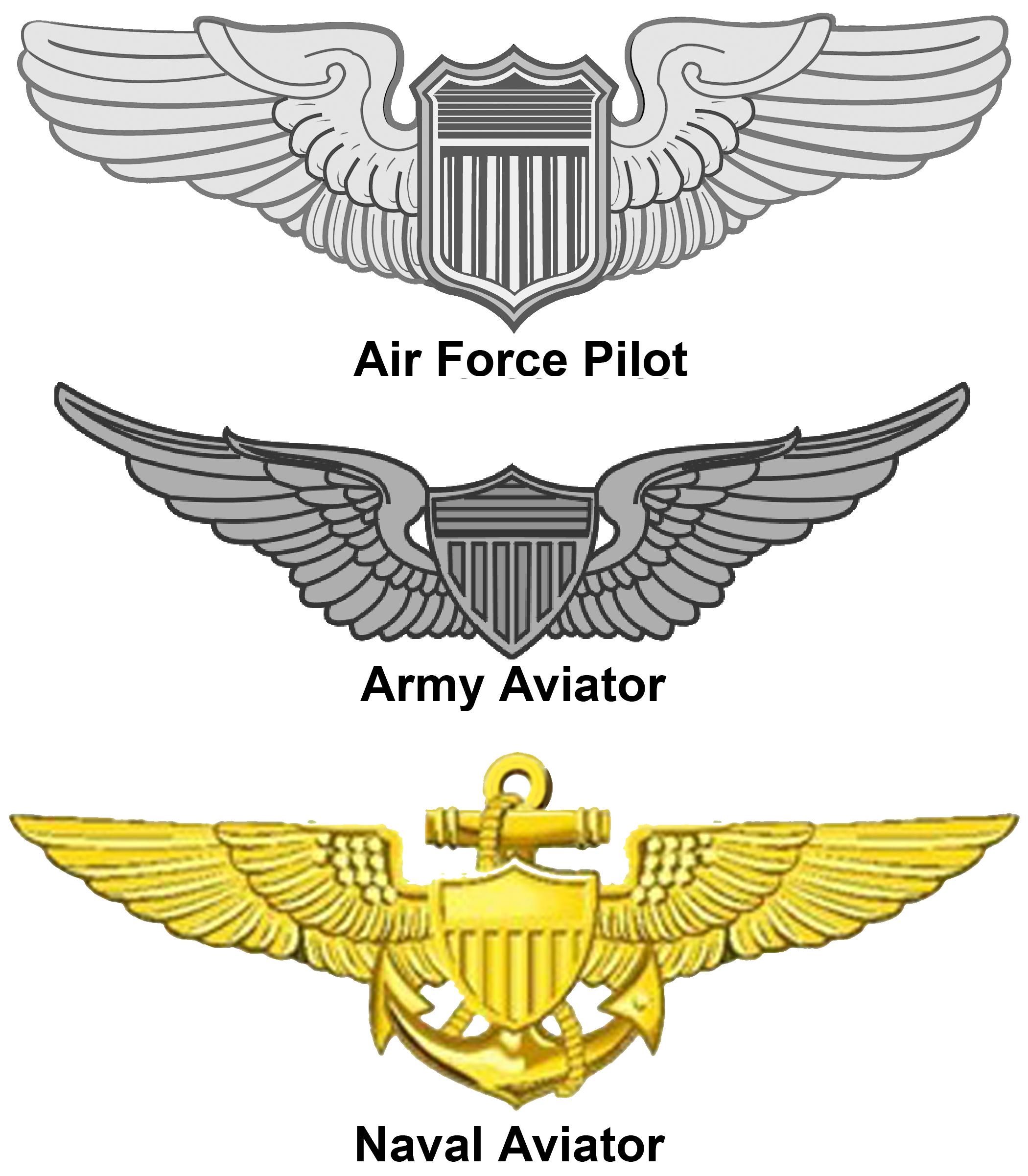 United states badge military. Pilot clipart aviator pilot