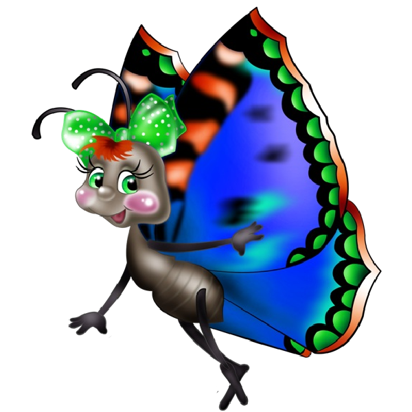 Funny cartoon butterfly images. Writer clipart unfinished work