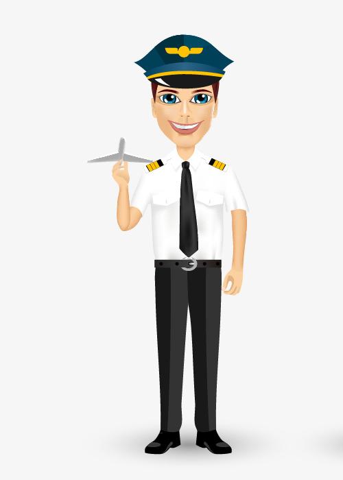 Pilot clipart cartoon. Hand painted pilots cli