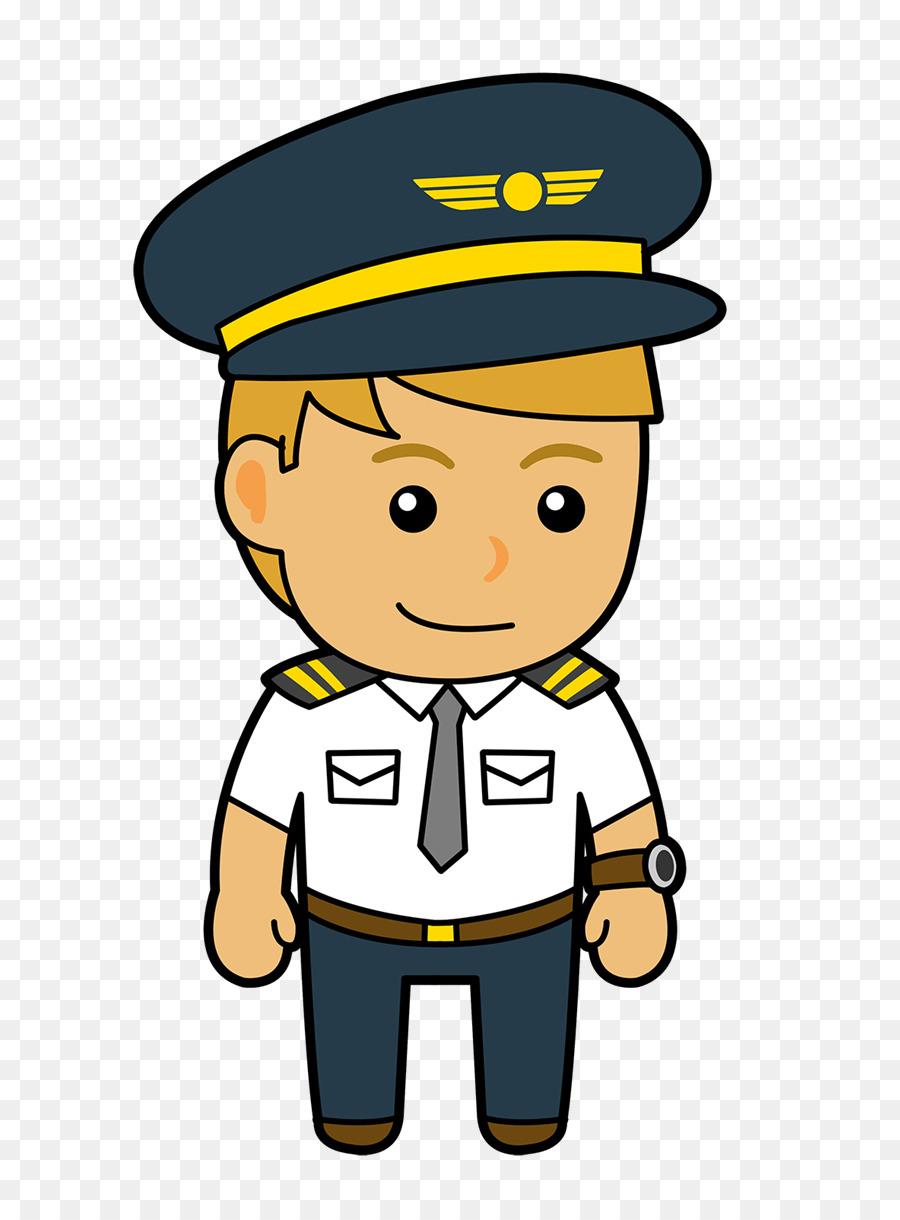 Pilot clipart cartoon. Airplane yellow