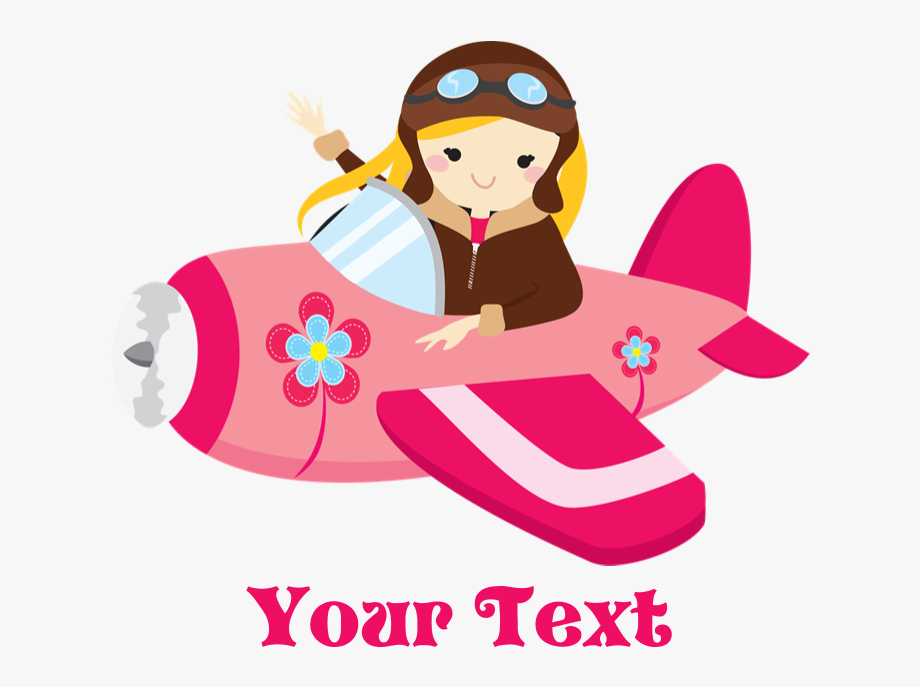 Pilot clipart girl pilot. Little airplane with png