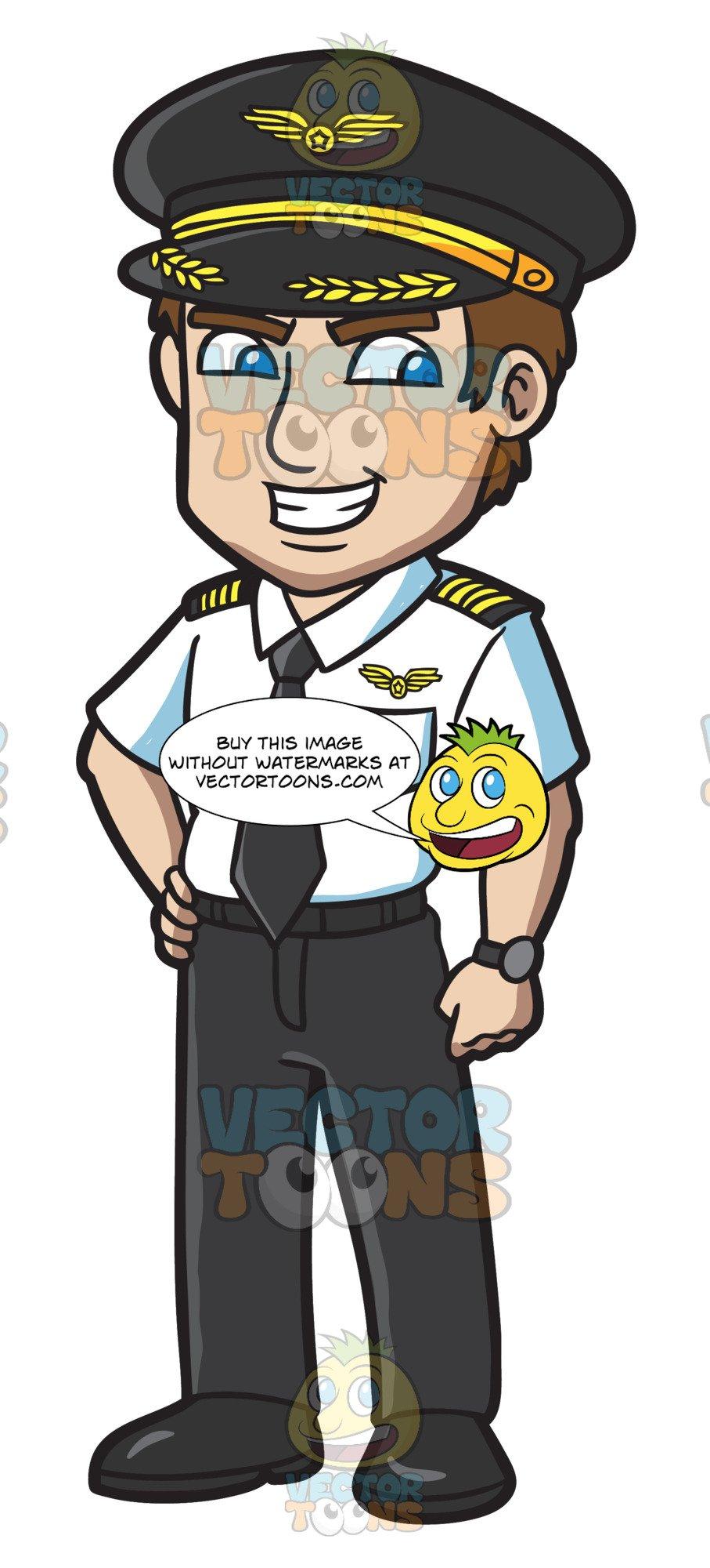 A sleek aviator . Pilot clipart person