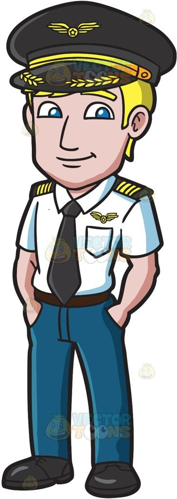 Pilot clipart person. A cool and calm