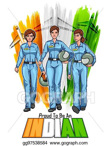 Pilot clipart pilot indian. Vector women on background