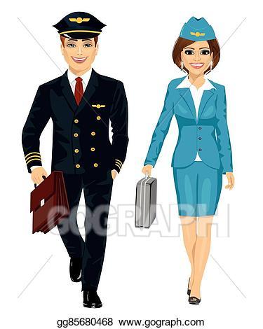 Pilot clipart pilot uniform. Vector illustration handsome man