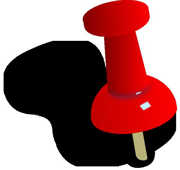 Pin clipart. Push clip art at