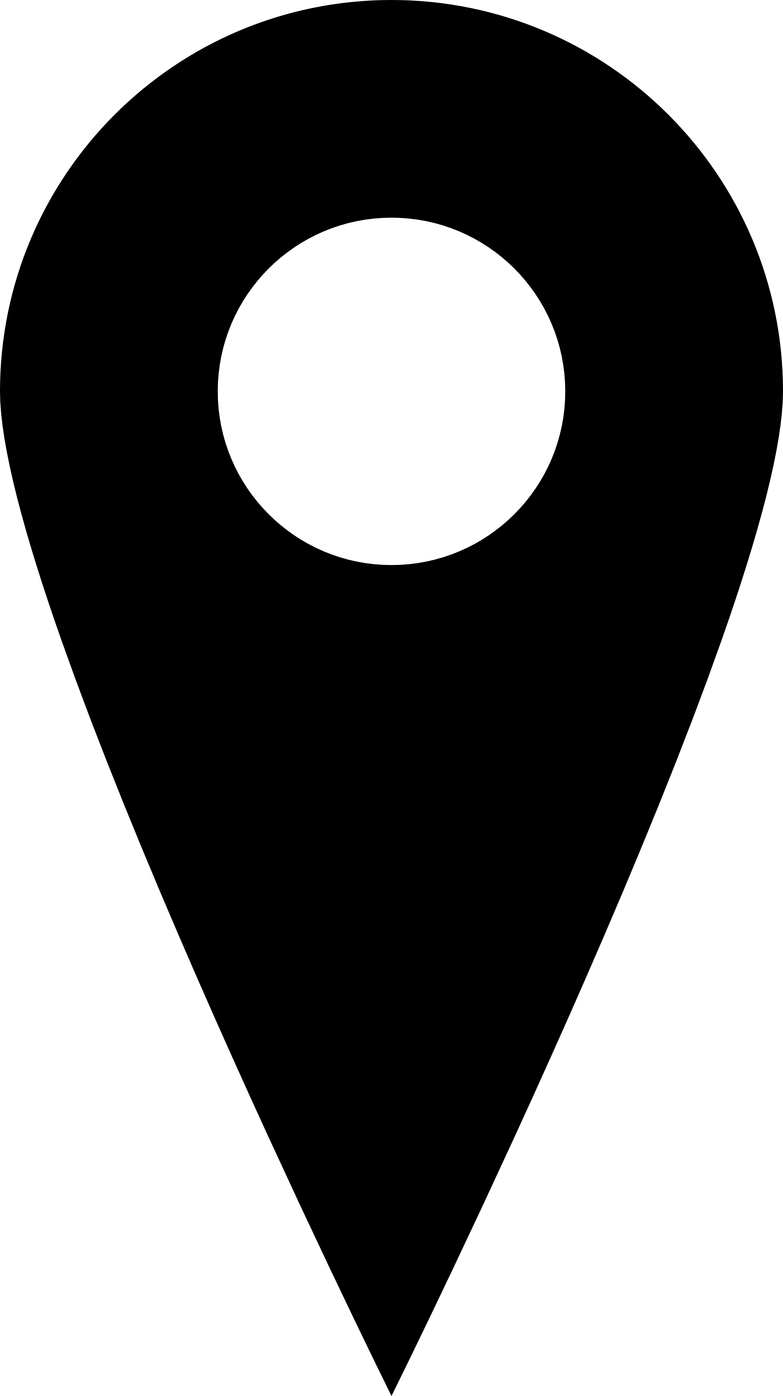 Pin black and white. Location icon png