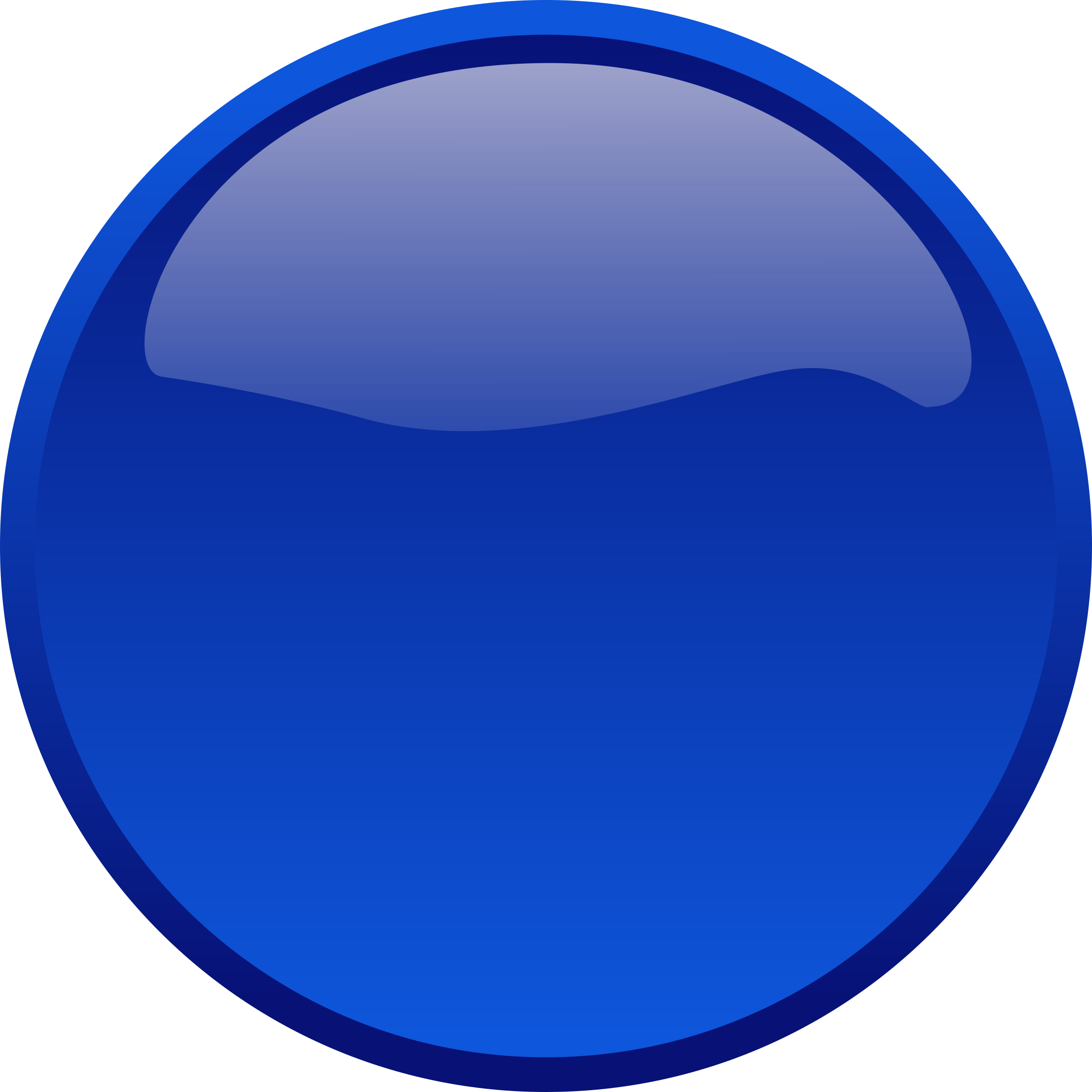 Button blue big image. Pin clipart round