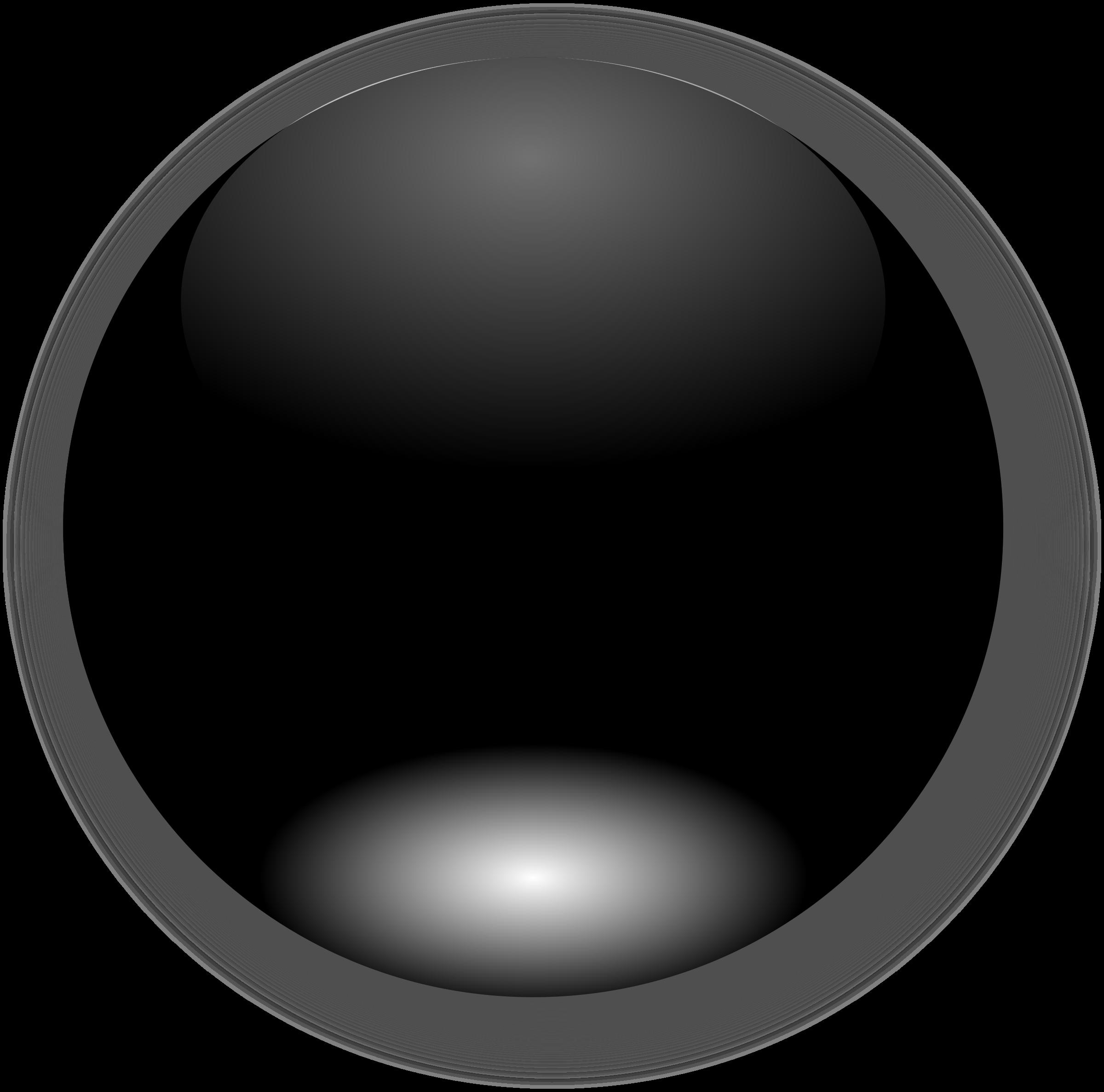 Black button big image. Pin clipart round