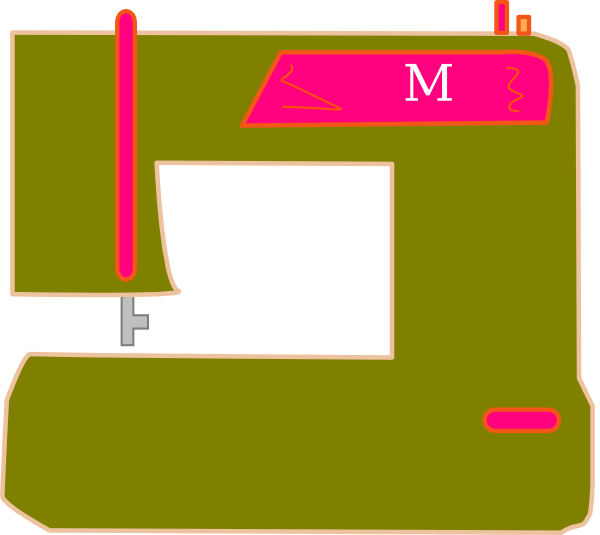 Sewing clipart pink. Olive and machine clip