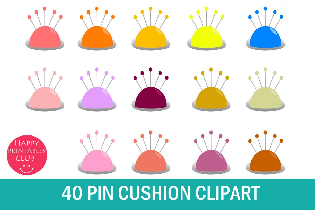 Sewing clipart useful material.  pin cushion graphics