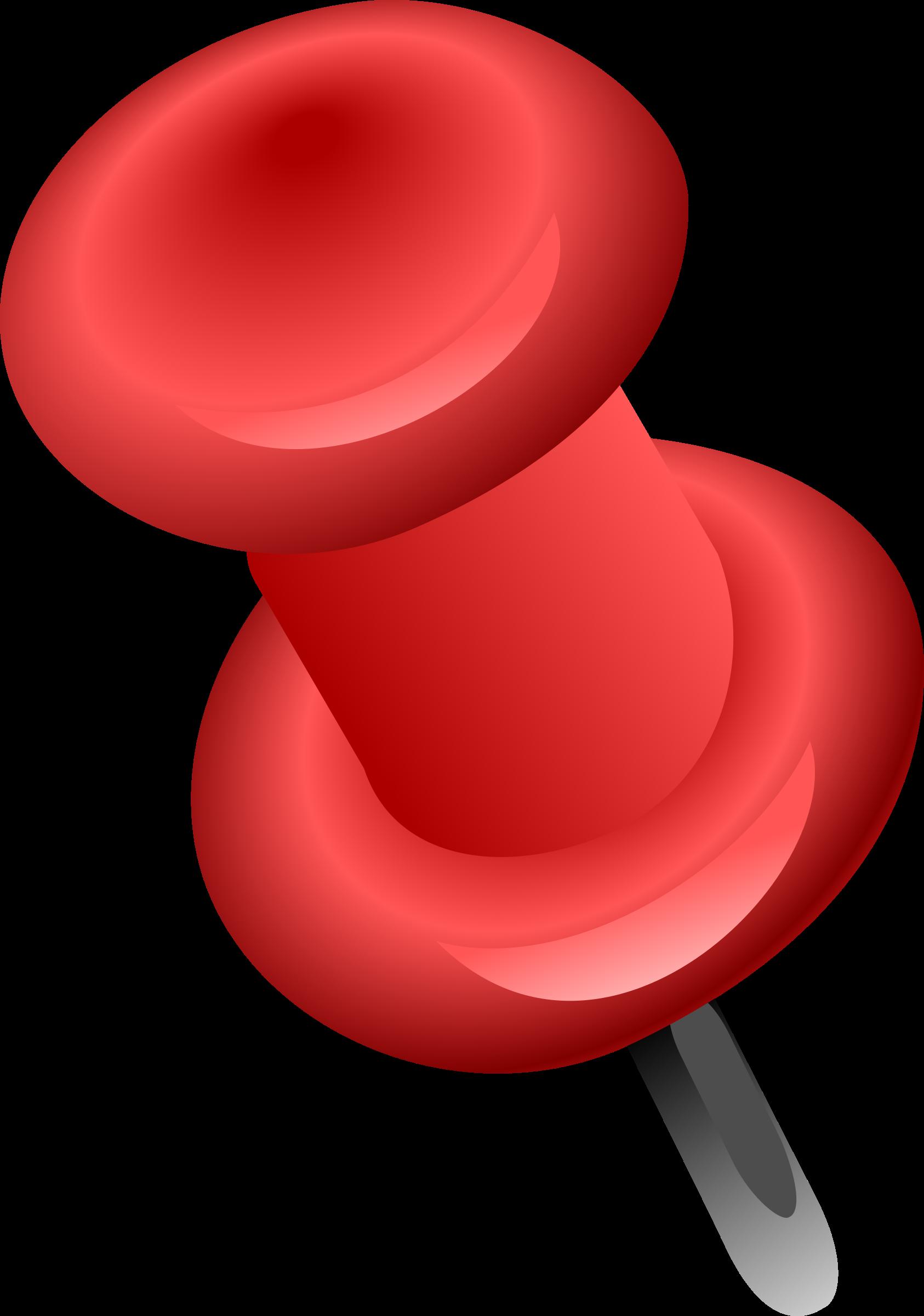Punaise rouge big image. Pin clipart tac