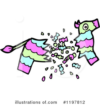 Illustration by lineartestpilot royaltyfree. Pinata clipart