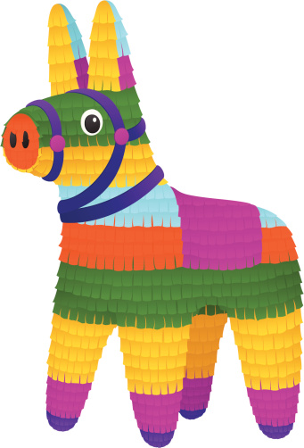 Free donkey cliparts download. Mexican clipart pinata