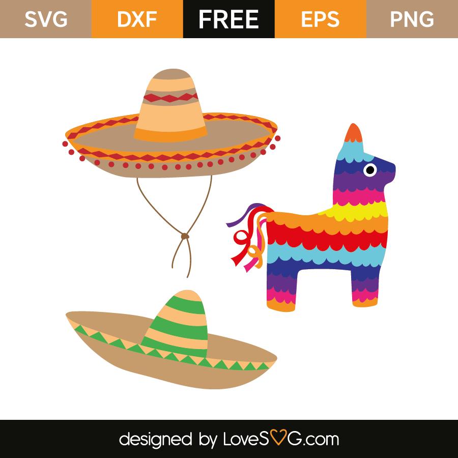 And lovesvg com . Pinata clipart baby sombrero