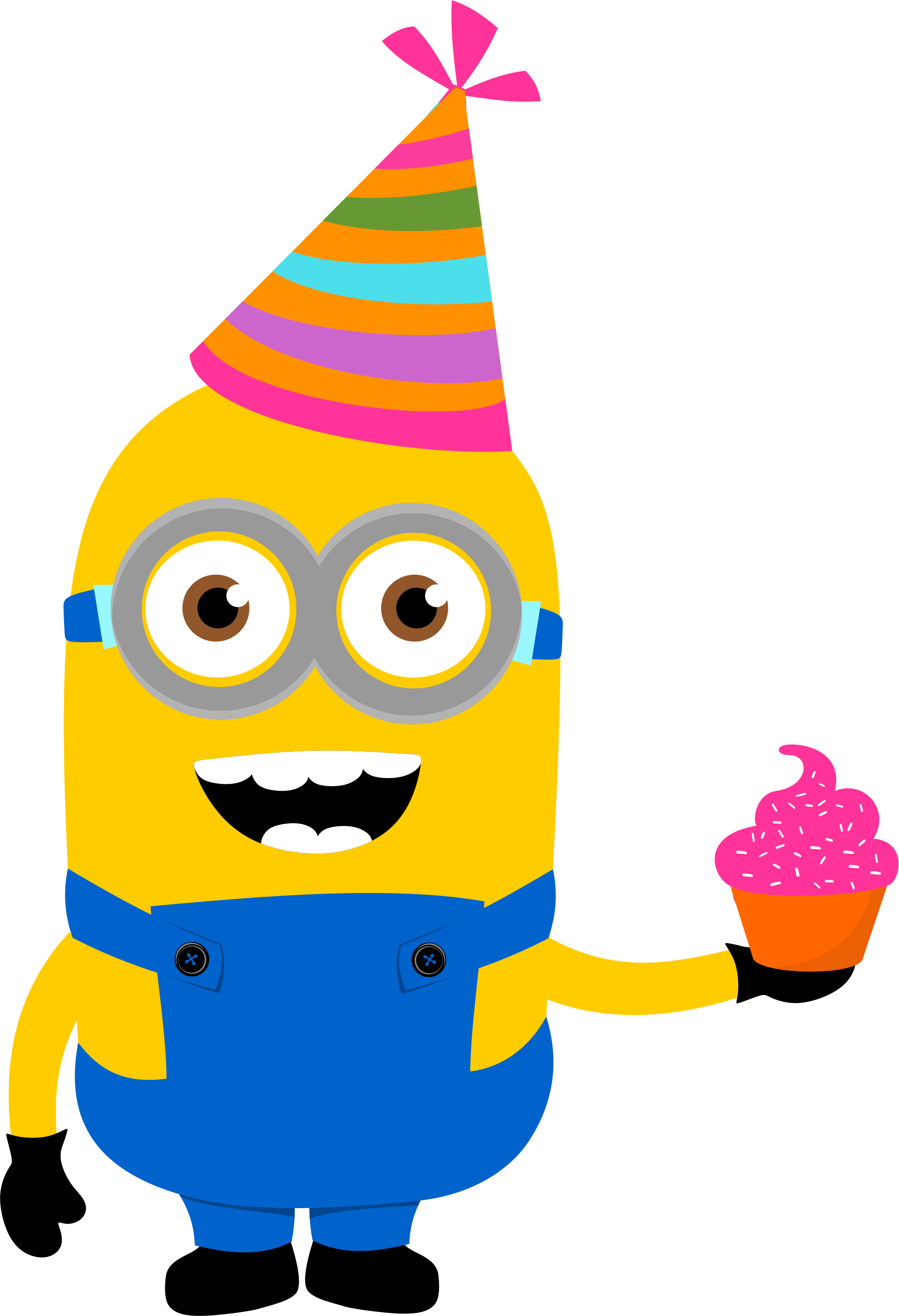 Surprise clipart birthday party supply. Minion png cupc k