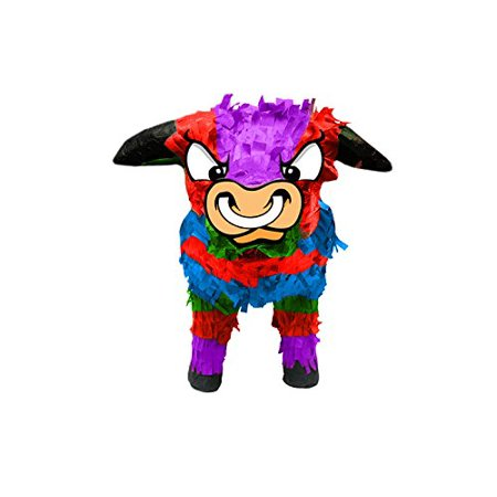 Pinata clipart themed. Multicolored bull d mexican
