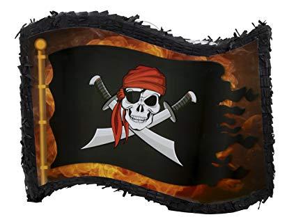 Pirate flag kids birthday. Pinata clipart themed