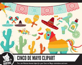 Cinco de mayo mexico. Pinata clipart themed