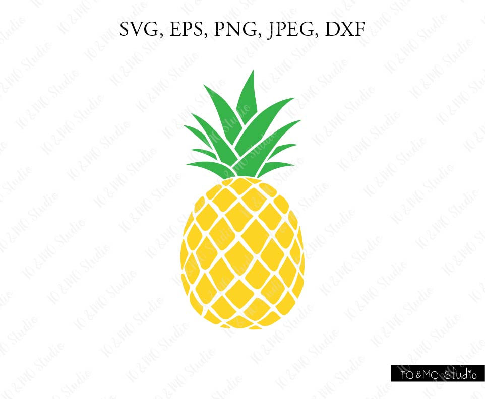 Svg print . Pineapple clipart