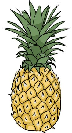 Pineapple clipart. Free clip art hair