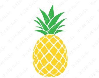 Pineapple clipart. Clip art etsy svg