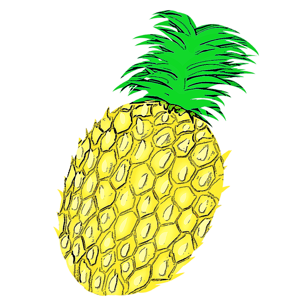 Pineapple clipart adorable. Pin by mami ii