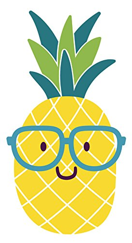 Nerdy summer emoji with. Pineapple clipart adorable