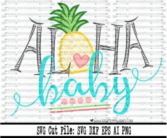 Pineapple clipart baby. Svg aloha beach file