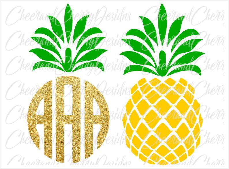 Pineapple clipart birthday. Printable cake topper svg