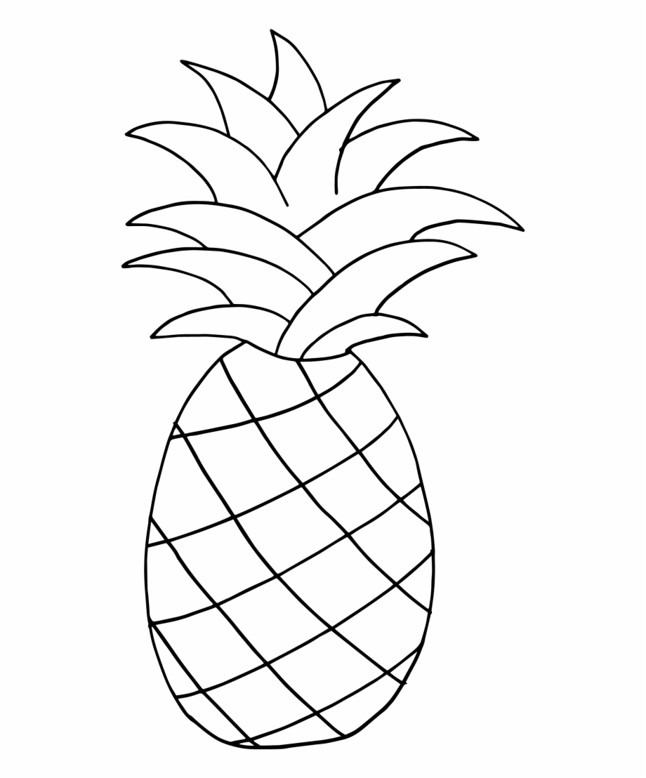 Pineapple clipart black and white. Figura pi a para
