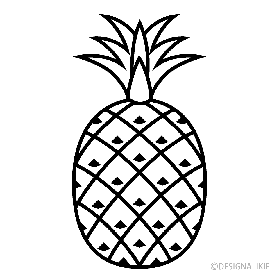 Icon free picture illustoon. Pineapple clipart black and white