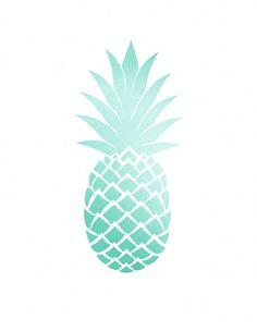 X free clip art. Pineapple clipart blue
