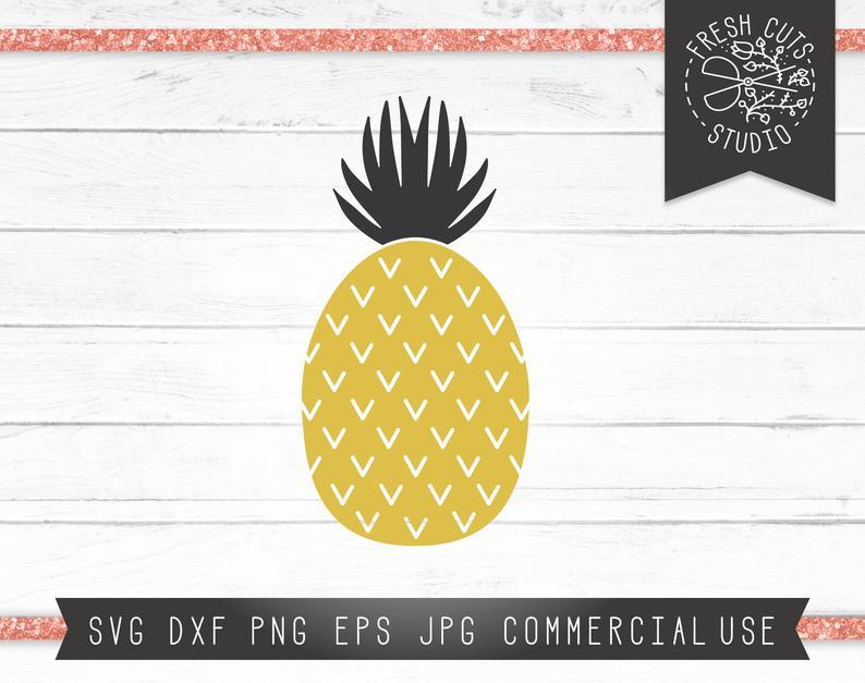 Pineapple clipart boho. Tropical svg cut file