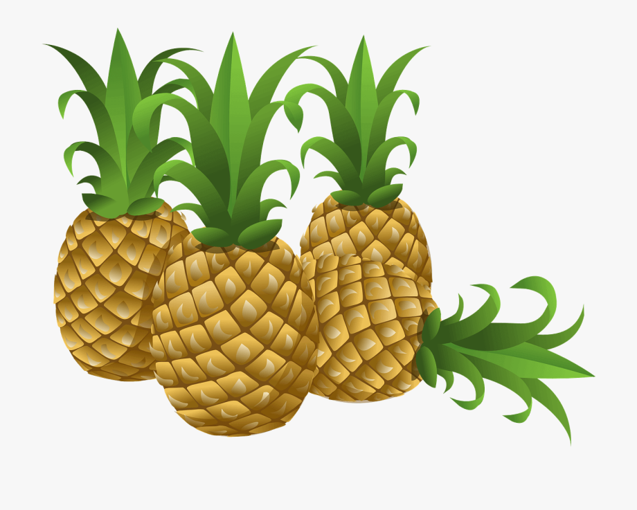 Pineapples transparent free cliparts. Pineapple clipart cartoon