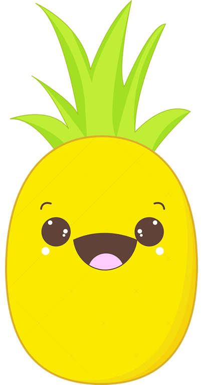 Fruits design by lemongraphic. Pineapple clipart character