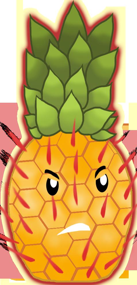 Pineapple clipart character. Pyreapple pvzcc plant plants