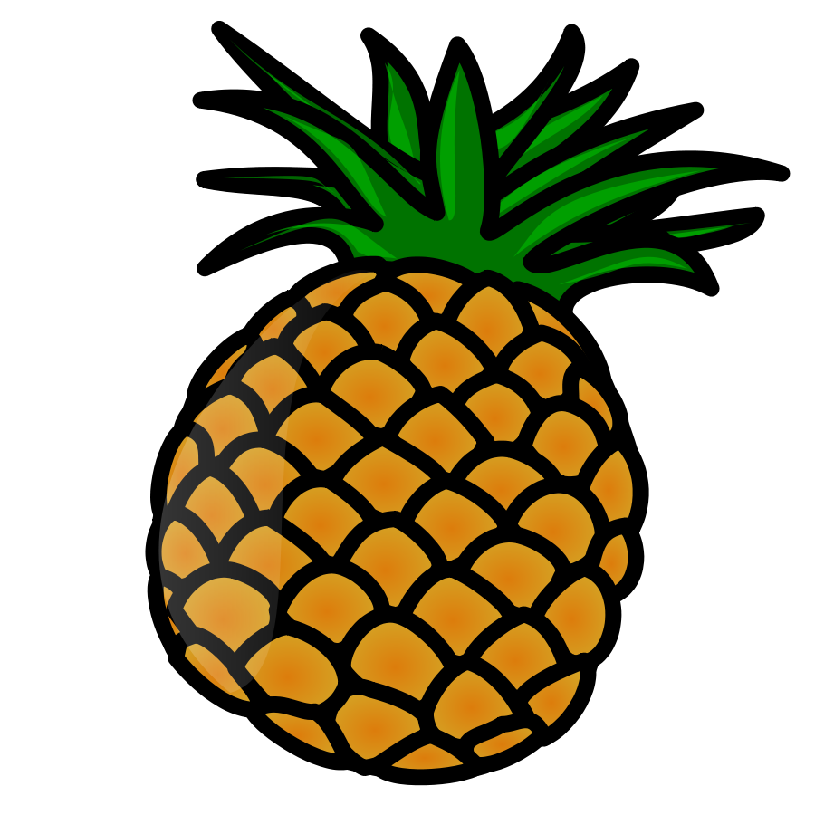 Pineapple clipart coloured. Svg techflourish collections vector