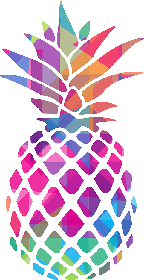 Pineapple clipart coloured. Png sector color clip