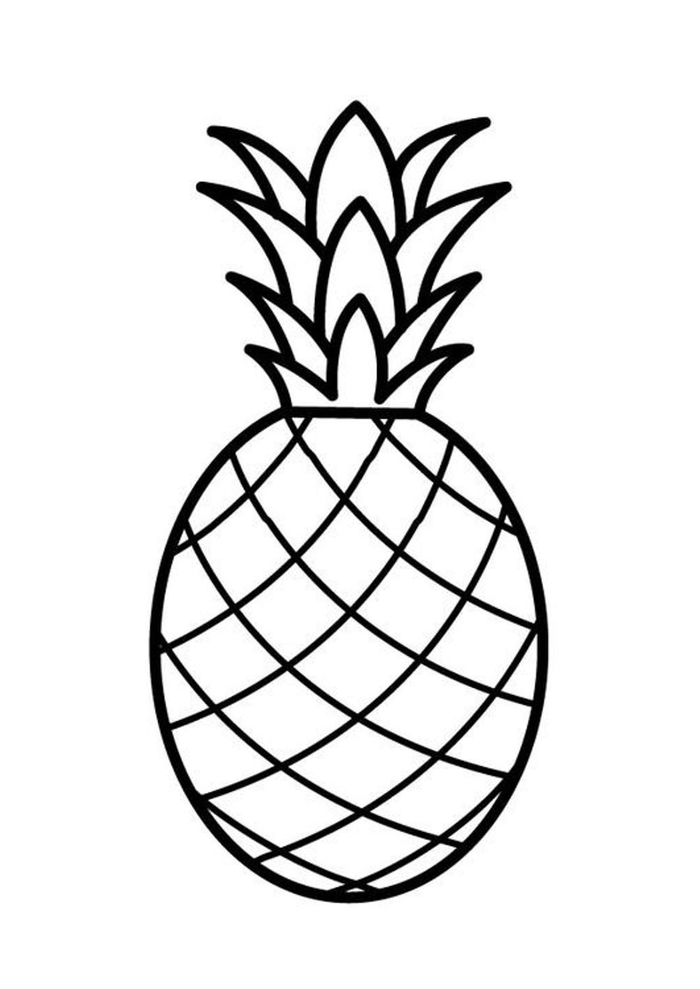 Pineapple clipart drawn. Simple drawing free download