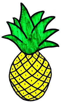 Pineapple clipart drawn.