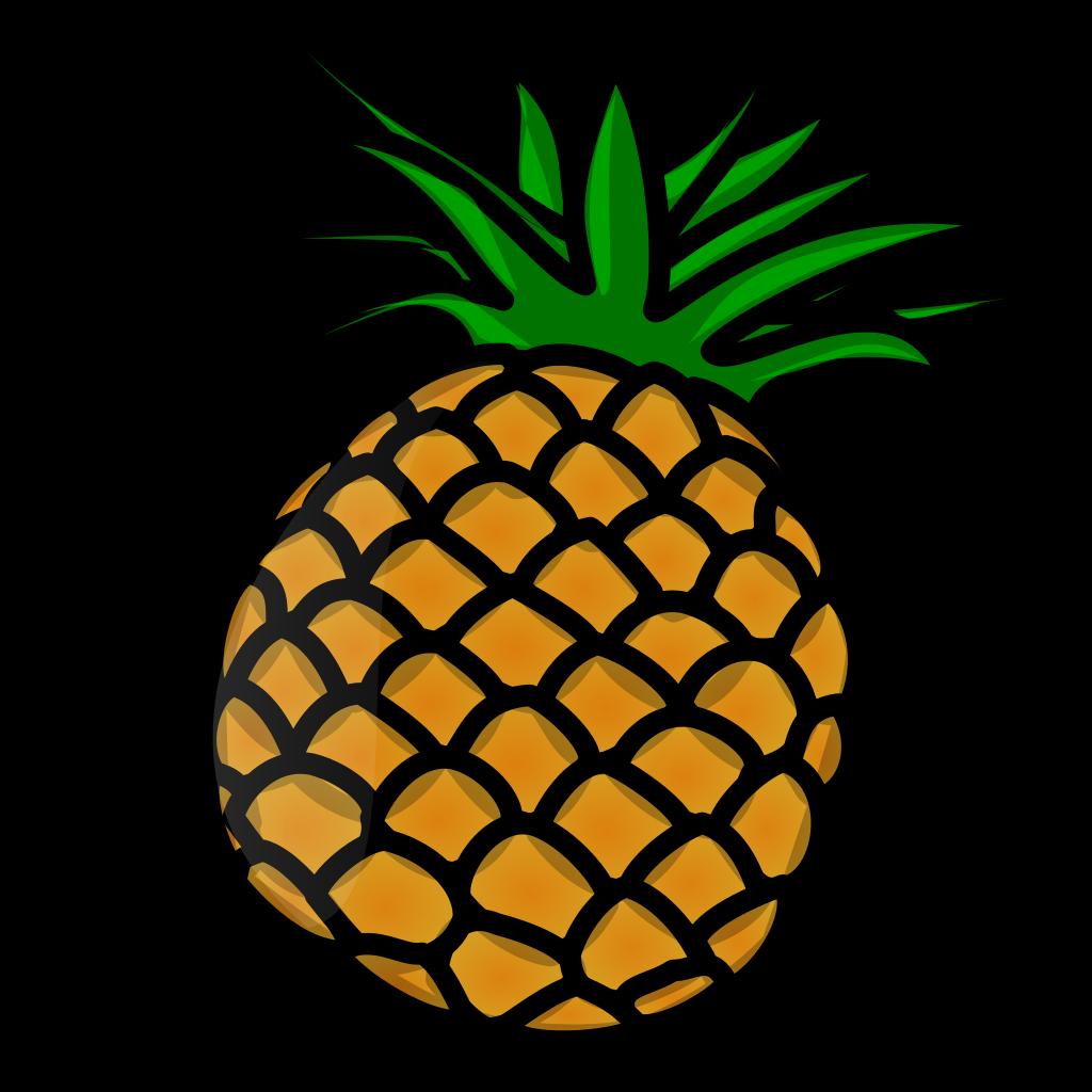 Pineapple clipart file. Tux paint svg wikimedia