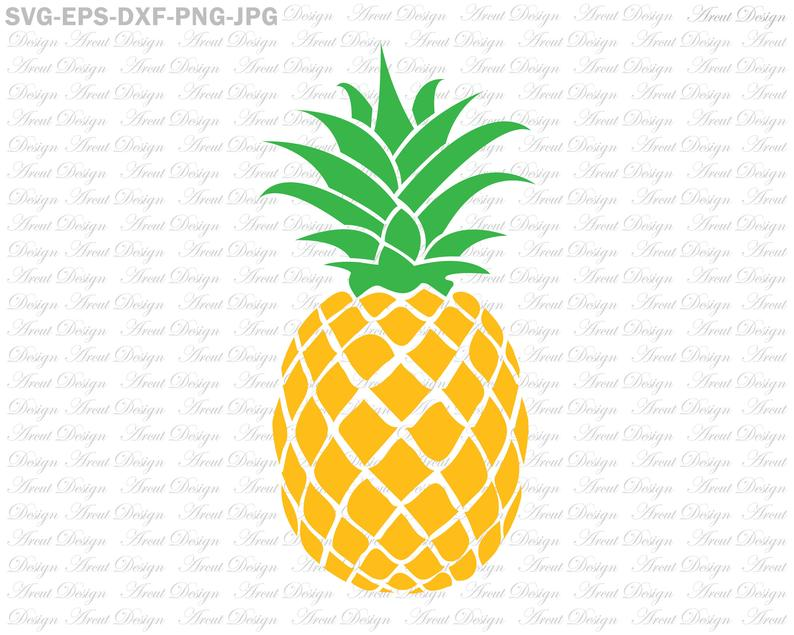 Pineapple clipart file. Svg summer pineaple cut