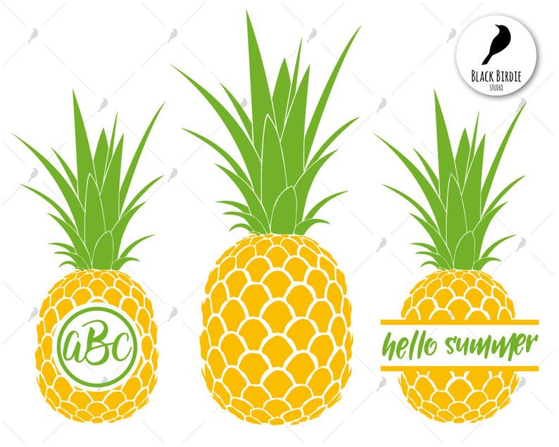 Pineapple clipart frame. Svg monogram cricut silhouette