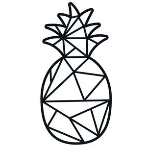Silhouette design store view. Pineapple clipart geometric