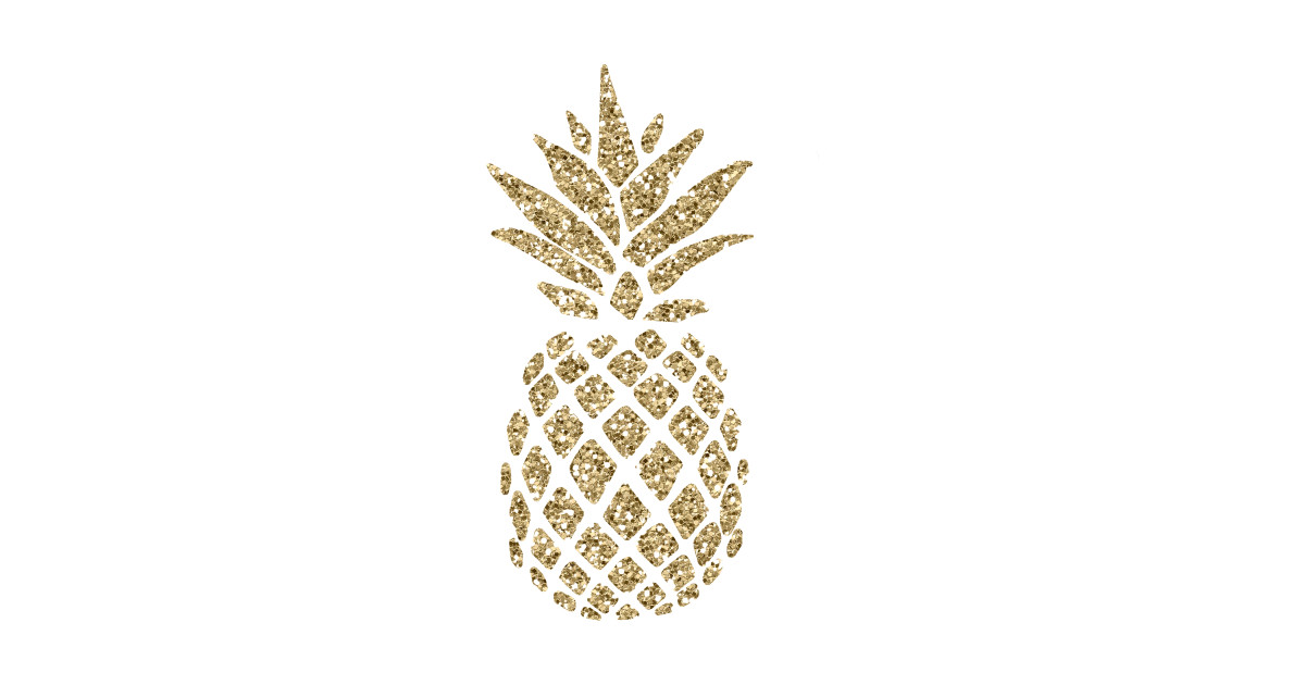 Pineapple clipart gold glitter. Download free png t