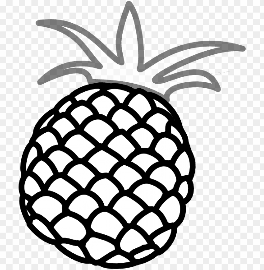 How to set use. Pineapple clipart grey