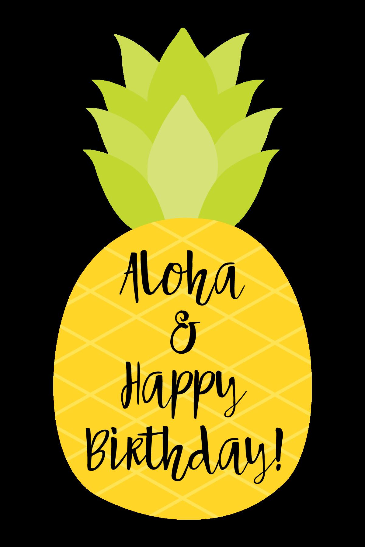 Cute themed gift idea. Pineapple clipart happy birthday