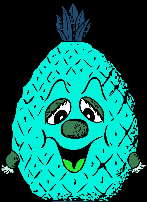Pineapple clipart head. Vector clip art library