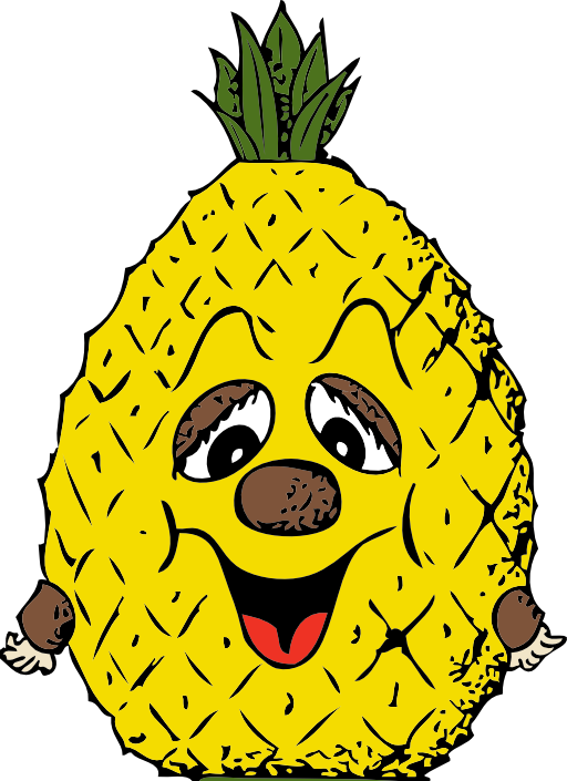 Head i royalty free. Pineapple clipart house